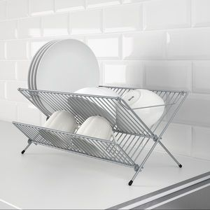 IKEA KVOT Galvanized Dish Drainer Rack